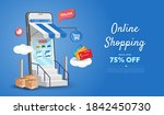 online shopping store on... | Shutterstock .eps vector #1842450730