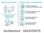 set of coronavirus covid19... | Shutterstock .eps vector #1842453070