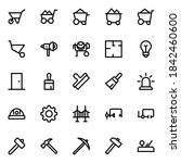 Outline Icons For Construction  ...
