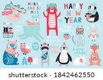 christmas set  hand drawn style ...   Shutterstock .eps vector #1842462550