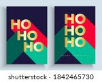 set of luxury christmas cards   ... | Shutterstock .eps vector #1842465730