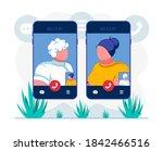 telehealth video conference app ...   Shutterstock .eps vector #1842466516