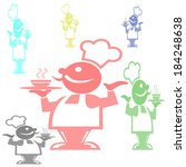 stamp with cook with different... | Shutterstock .eps vector #184248638