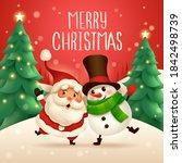 merry christmas  santa claus... | Shutterstock .eps vector #1842498739