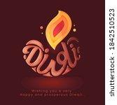 creative stylish diwali font... | Shutterstock .eps vector #1842510523