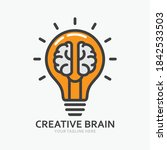 creative brain in line icon ... | Shutterstock .eps vector #1842533503