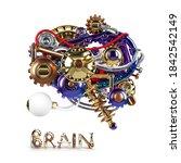 human machine brain idea model... | Shutterstock . vector #1842542149