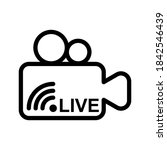 live video  streaming icon... | Shutterstock .eps vector #1842546439
