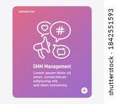 smm management thin line icon ...   Shutterstock .eps vector #1842551593