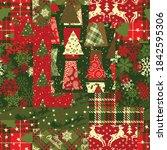 christmas clip art elements... | Shutterstock .eps vector #1842595306