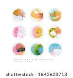 set of color social media... | Shutterstock .eps vector #1842623713