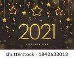 happy new 2021 year. golden...   Shutterstock .eps vector #1842633013