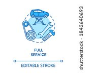 full service concept icon. end... | Shutterstock .eps vector #1842640693