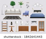 set of isolated interior icons... | Shutterstock .eps vector #1842641443