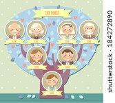 family tree for a boy   Shutterstock .eps vector #184272890
