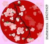 spring sakura branch.   Shutterstock .eps vector #184274429