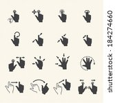 gesture icons for touch devices.... | Shutterstock .eps vector #184274660