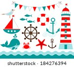 nautical set | Shutterstock .eps vector #184276394