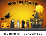 the festival characters in the... | Shutterstock . vector #1842804616