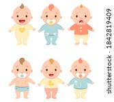 cute little baby in different...   Shutterstock .eps vector #1842819409