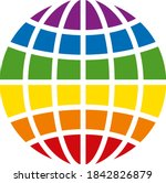 lgbt globe icon on a white...   Shutterstock .eps vector #1842826879