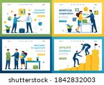set of landing pages on the... | Shutterstock .eps vector #1842832003
