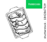 parmigiana sketch vector... | Shutterstock .eps vector #1842867529