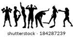 vector silhouette of people in... | Shutterstock .eps vector #184287239
