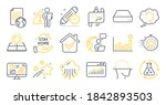 set of science icons  such as...