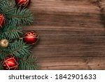 Frame Made Of Christmas Tree...