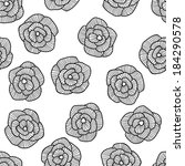 seamless hand drawn floral... | Shutterstock . vector #184290578