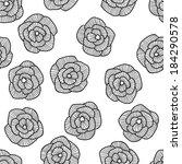 seamless hand drawn floral... | Shutterstock . vector #184290578