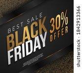 elegant black friday gold color ... | Shutterstock .eps vector #1842913366