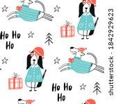 Ho Ho Ho   Christmas Seamless...