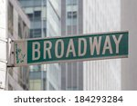 roadsign of manhattans famous... | Shutterstock . vector #184293284