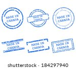 made in canada stamps | Shutterstock .eps vector #184297940