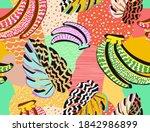 pattern of a tropical artwork ... | Shutterstock .eps vector #1842986899