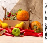 Rustic Fall Background With...