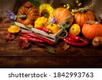 Rustic Box With Fall Vegetables ...