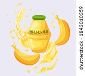 delicious korean banana milk...   Shutterstock .eps vector #1843010359
