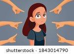 sad teenage girl feeling...   Shutterstock .eps vector #1843014790