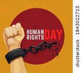 human rights day illustration...   Shutterstock .eps vector #1843022713