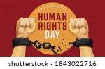human rights day illustration...   Shutterstock .eps vector #1843022716