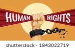 human rights day illustration... | Shutterstock .eps vector #1843022719