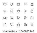 essential 20 icons set design....