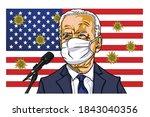 joe biden campaign presidential ...   Shutterstock .eps vector #1843040356