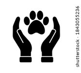 vector pet care icon  hands...