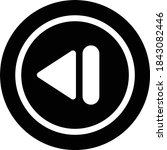 previous vector glyph flat icon