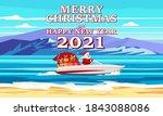 merry christmas santa claus on... | Shutterstock .eps vector #1843088086