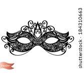 beautiful masquerade mask ... | Shutterstock .eps vector #184310663